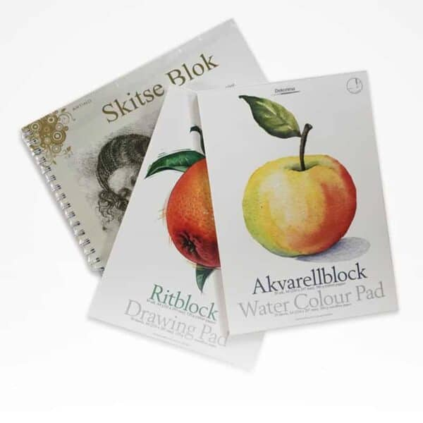 Akvarel & tegneblokke